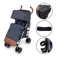 Ickle Bubba Discovery Prime Stroller - Silver - Denim Blue