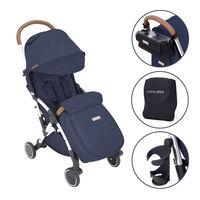 Ickle Bubba Globe Prime Stroller - Silver Frame - Denim Blue