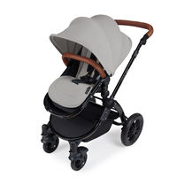 Ickle Bubba Stomp v3 2-in1 Pushchair and Carrycot - Black - Silver