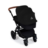 Ickle Bubba Stomp v3 2-in1 Pushchair and Carrycot - Silver - Graphite Grey