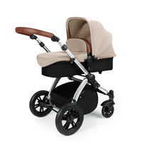 Ickle Bubba Stomp v3 2-in1 Pushchair and Carrycot - Silver - Sand