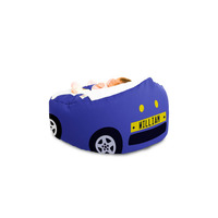 Gaga Baby Bean Bag - Luxury Cuddlesoft Racing Car - Blue