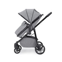 Ickle Bubba Moon 3 in 1 Travel System with 0+ Galaxy Car Seat - Black - Space Grey