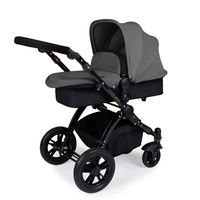 Ickle Bubba Stomp V2 - 2 In 1 Pushchair - Black - Graphite Grey