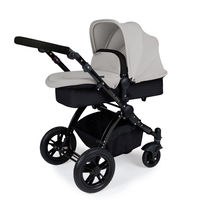 Ickle Bubba Stomp V2 - 2 In 1 Pushchair - Black - Silver