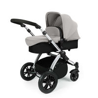 Ickle Bubba Stomp V2 - 2 In 1 Pushchair - Silver - Silver